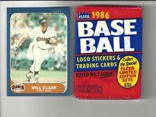 1986 Fleer Update Will Clark #U25 + 1 Unopened 86 Fleer Wax Pack