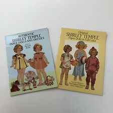 Set of 2 Shirley Temple Paper Dolls Books Martha Krebs The Childrens Museum