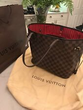 AUTHENTIC LOUIS VUITTON NEVERFULL DAMIER EBENE GM HANDBAG