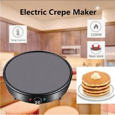 1200W Breakfast Crepe Maker Pancake Cooker Grill Plate Dessert Making Machine