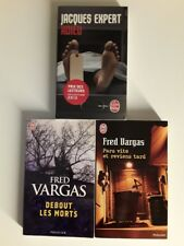 Lot de 3 livres (thrillers Fred Vargas / Jacques Expert)