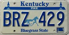 FREE UK POSTAGE Kentucky Horse and Foal Pike Co USA License Number Plate BRZ 429
