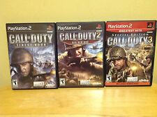 Playstation PS2 - Call of Duty 3 Special, Finest Hour & Big Red One - Complete
