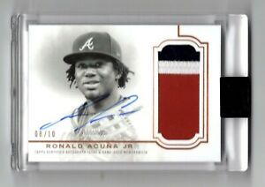 2020 Topps Dynasty Ronald Acuna Jr Game Used Patch Autograph Auto #8/10 🔥🔥