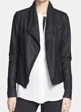 VINCE Paper Leather SCUBA Asymmetric Zip Jacket- Size SMALL