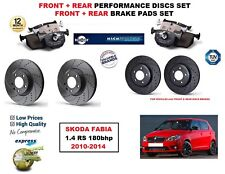 FOR SKODA FABIA 1.4 RS 180bhp 2010-2014 FRONT REAR PERFORMANCE BRAKE DISC + PADS