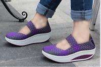 Women'S Casual Shoes Sport Woven Shoes summer sandals Swing Shoes Breathable
