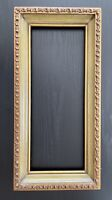 "6X15 Inch Picture Frame ART 15X6 6"" X 15"" VINTAGE Wood Gesso Gilt Painted MCM"