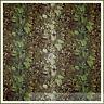 BonEful Fabric FQ Cotton Quilt VTG Brown Green Leaf Fern Rose Flower Shabby Chic