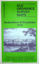 OLD ORDNANCE SURVEY DETAILED MAP AUDENSHAW & DROYLSDEN LANCASHIRE  1916 105.09