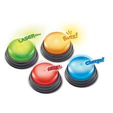 Ressources d'apprentissage - lumières et sons réponse buzzers, set de 4 game show style