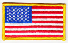 American Flag w/ Gold Border Patch