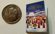 Miniature dollhouse Christmas book 1/12 Scale Charlie Brown Snoopy Peanut Lucy F