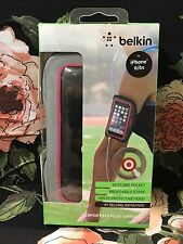 Belkin - Sport - Fit Plus Armband for Apple® iPhone ® 6/6s -Gray & Pink