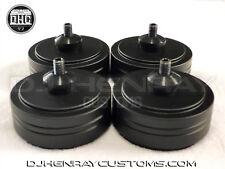 4 Custom billet aluminum turntable feet for technics 1200 Series gun metal black