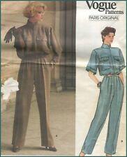 1985 Vintage Jumpsuit Vogue Paris Original YvesSaintLaurent Sewing Pattern B 34