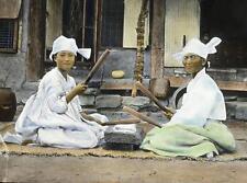 Photo. 1910s. Korea. Women Using Sticks To Iron Clothing