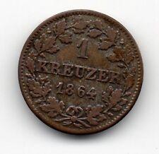 Germany - Bavaria / Bayern - 1 Kreuzer 1864