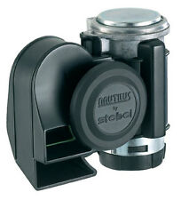 STEBEL NAUTILUS 12V COMPACT AIR HORN BLACK 139dB SUPER LOUD!! MOTORCYCLE/CAR/4X4
