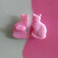 20 Cat Pet Novelty Cardmaking Craft  Kid Sewing Buttons Scrapbooking Pink K555