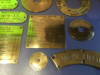Original Royal Navy HMS Ark Royal Brass Engine Room Plaques Maritime Marine Boat