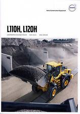Volvo Construction L110H 09 / 2015 catalogue brochure loader chargeur