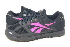 Reebok Women Crossfit Nano 2.0 Shoes J94329 Athletic Black/Dynamic Pink Size 10