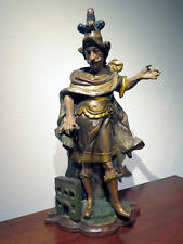 Hl. Florian aus Holz geschnitzt & farblich gefasst zweite Hälfte 18 Jahrhundert