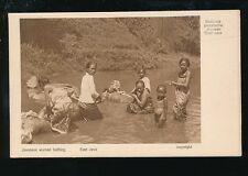Dutch East Indies EAST JAVA Javanese women bathing c1920/30s? PPC