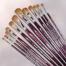 New listing 12pcs Artists Paiting Brush Set Weasel's Hair Gouache Oil Pait Art Supplies
