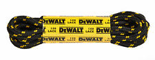 DeWalt black and yellow 150cm durable spare replacement pair of boot laces