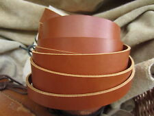 "50"" LONG 3.5mm THICK SADDLE TAN BRIDLE LEATHER STRAP VEG TAN VARIOUS WIDTH"