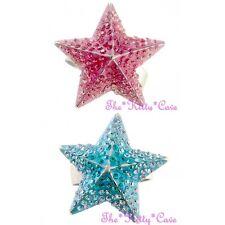 Dazzling Astronomy Zodiac Twilight Fancy Chic 3D Star Ring w/ Swarovski Crystals