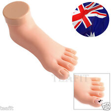 Practice Fake Model Foot Movable Soft Flexible Useful Pedicure Nail Art Train