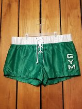Men Abercrombie Gym Issue Vintage Style Boxing Shorts Size L NWOT