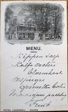 Doorn, Utrecht, Netherlands 1921 Handwritten Menu in French - Hotel Lagerweij- 3