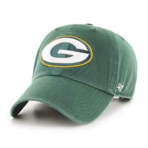 Green Bay Packers 47 Brand Clean Up Cotton Adjustable On Field Dad Hat Cap