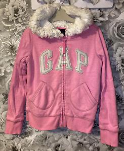 Girls Age 8-9 Years - Gap Fleece Lined Hooded Zip Up Sweater
