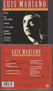 Luis Mariano Cd Ses Plus Belles Chansons Mexico Visa Pour L'amour Granada