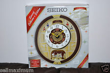 NEW Seiko Melodies in Motion Clock, 22 Swarovski Crystals, 24 Hi-Fi Melodies