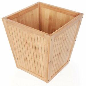 ToiletTree Products Bamboo Garbage Trash Can Basket Bedroom & Bathroom Waste Bin