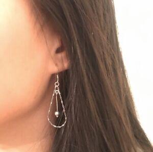 Sterling Silver Chandelier Earrings Teardrop Marked 925 Precious Metal