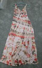 Womens Contemporary Gypsy 05 Orange Tie Dye Maxi Dress Small