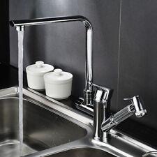 Modern Kitchen Sink Mixer Faucet Taps Pull Out Tap 360° Swivel Spout Brass Spray