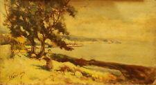 IL GOLFO DI NAPOLI - A. Napolitano - Dipinto originale a olio su tela 41x23