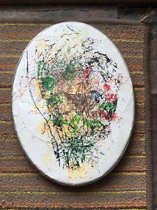 vintage oval Artex Liquid Embroidery Hoop Blotter Paint Deco-Write metal