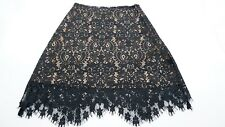 For Love & Lemons VIKA Black Mini Floral Paisley Lace Skirt Women's Size Small