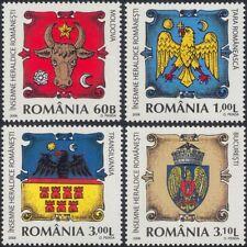 Romania 2008 Heraldry/Coat-of Arms/Bull/Eagles/Cattle/Shield/Birds 4v set n46119