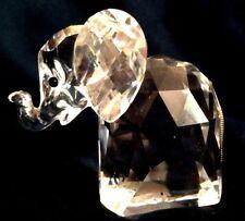 "SWAROVSKI 2.5""Large ELEPHANT, Silver Crystal w/ Silver Flexible Tail. MINT. VTG."