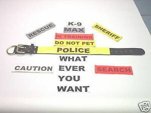 POLICE K9 DOG TRAINING 2IN COLLAR  SCHUTZHUND CUSTOM MADE SIZE,TEXT,COLOR ETC...
